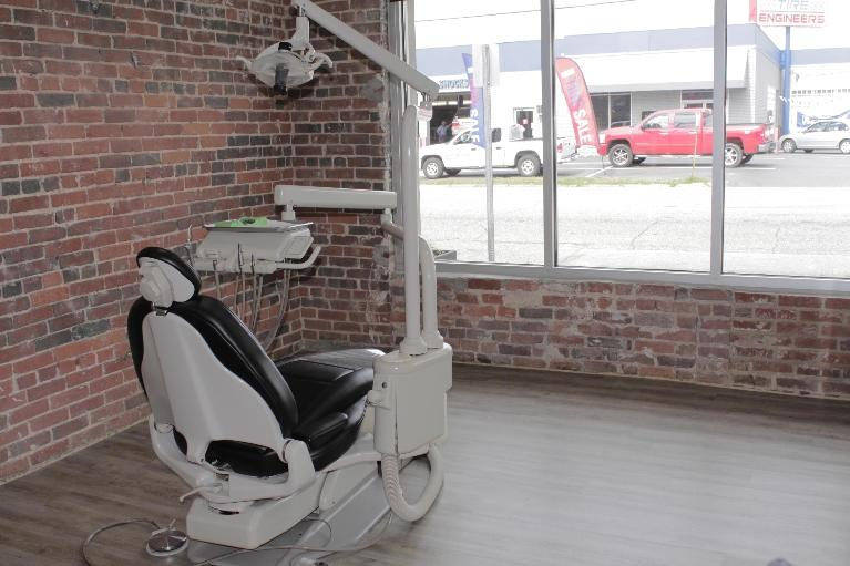 The Office Exam Room with a Window View at Cook Family Dental in Birmingham, AL