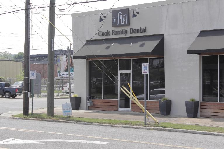 The office front of Cook Family Dental in Brimingham, AL